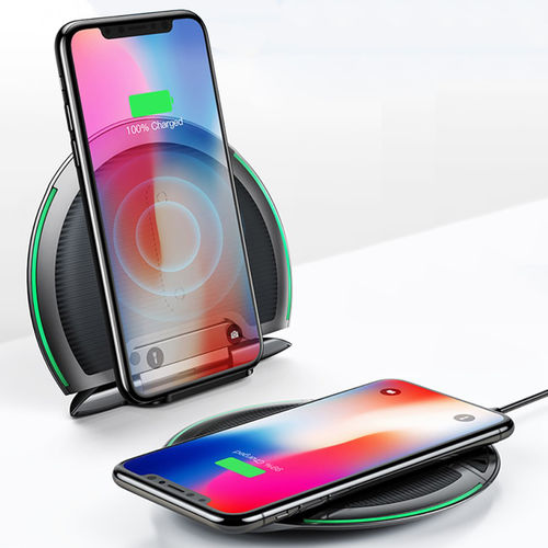 Baseus 10W 3-Coil Foldable Qi Fast Wireless Charging Pad Desk Stand